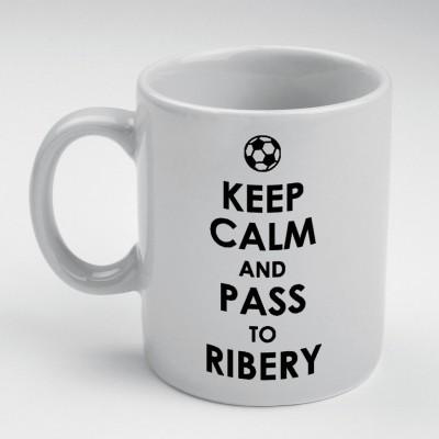 Prokyde Prokyde keep Calm & Pass to Ribery  Ceramic Mug