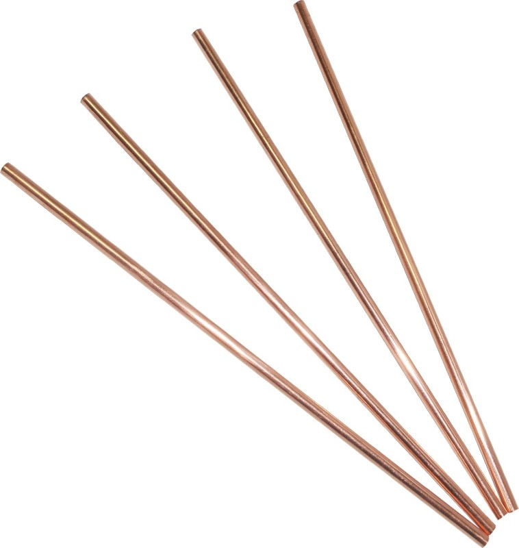 Dakshcraft Straight Drinking Straw(Gold, Pack of 4)