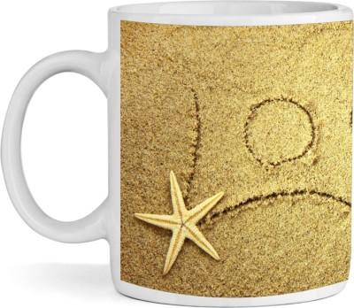SBBT Love With Star Fish Ceramic Mug