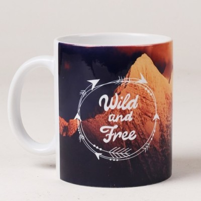 LetterNote Wild and Free Ceramic Mug