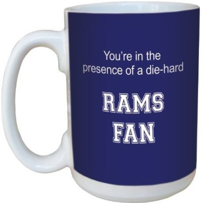 Tree-Free Greetings Greetings lm44539 Rams College Football Fan Ceramic  with Full-Sized Handle, 15-Ounce Ceramic Mug