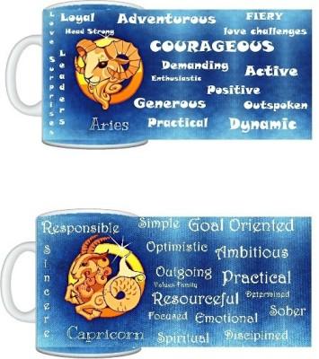 CreativesKart Zodiac Aries (M) Capricorn (F) Compatibility  Ceramic Mug