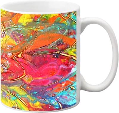 ezyPRNT Flower Pattern Ceramic Mug