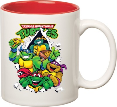 Huppme Ninja Turtle Inner Red  Ceramic Mug