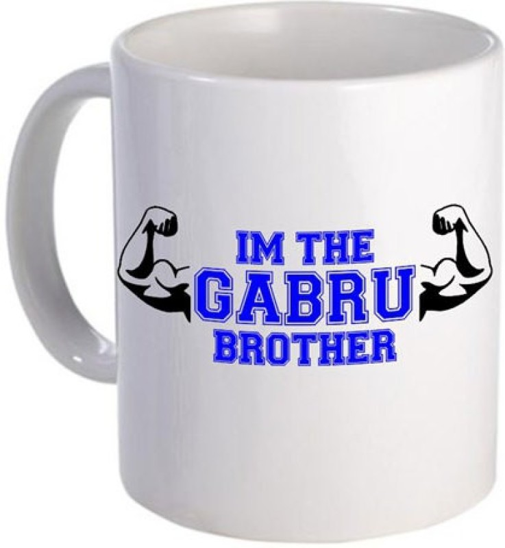 Giftsmate Gabru Brother Ceramic Mug(330 ml)