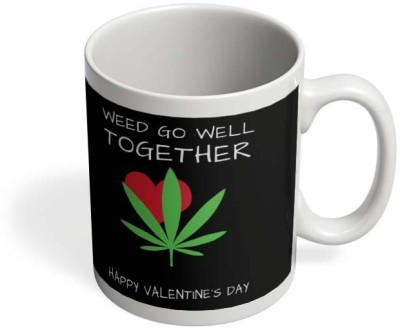 PosterGuy Weed Go Well Together | Happy Valentine's Day Pun Ceramic Mug