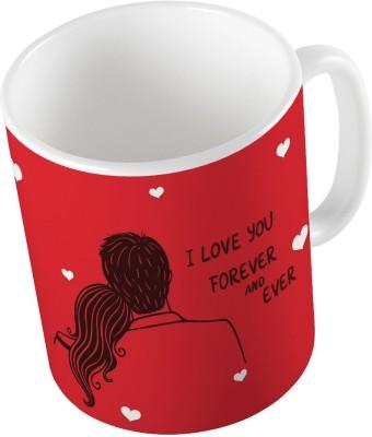 Indiangiftemporium Red Designer Romantic Print Coffee  728 Ceramic Mug