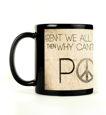Shoperite Make Peace Ceramic Mug
