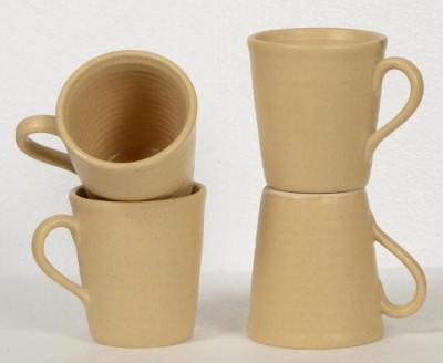 Inhomez Pitambari Stoneware Ceramic Coffee- Set of 4 Ceramic, Pottery Mug