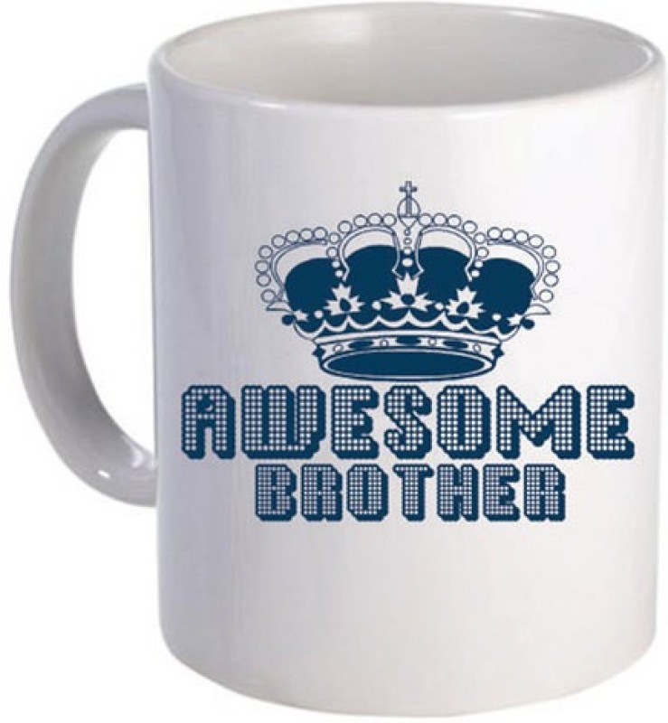 Giftsmate Awesome Brother Ceramic Mug(330 ml)