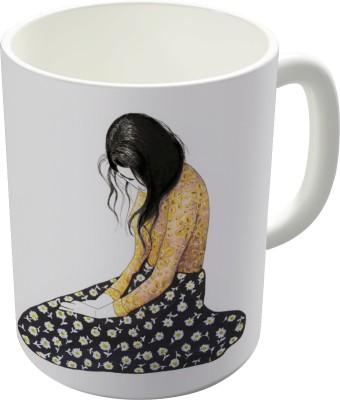 Dreambolic Sitting Woman Ceramic Mug
