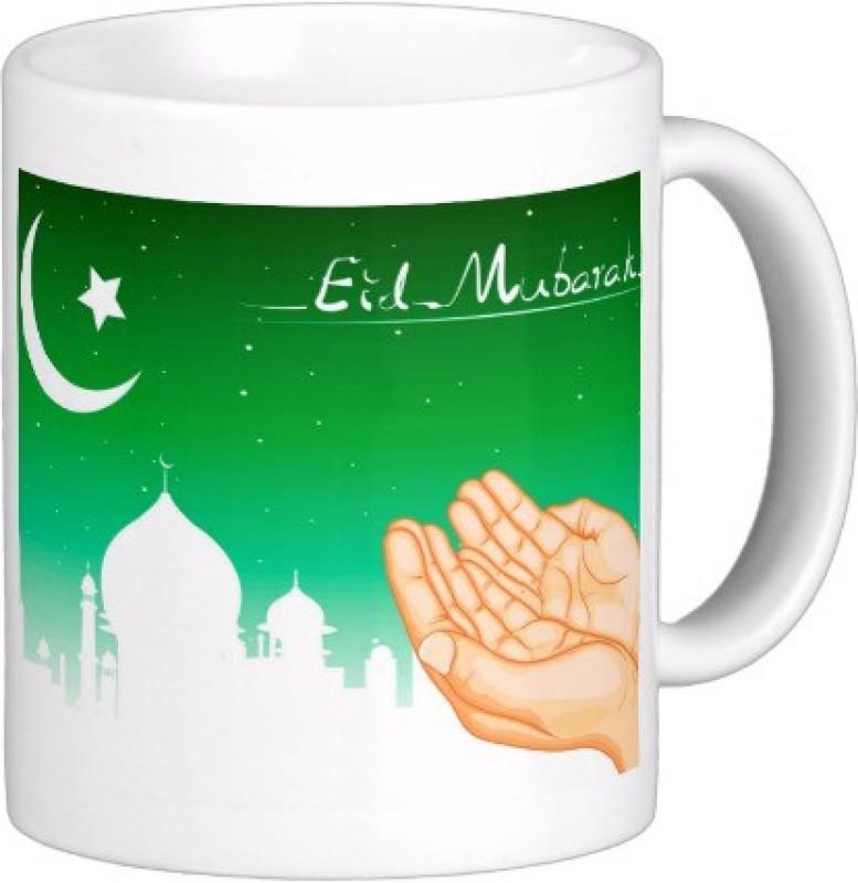 Exoctic Silver Eid Mubarak AB015 Ceramic Mug(300 ml)
