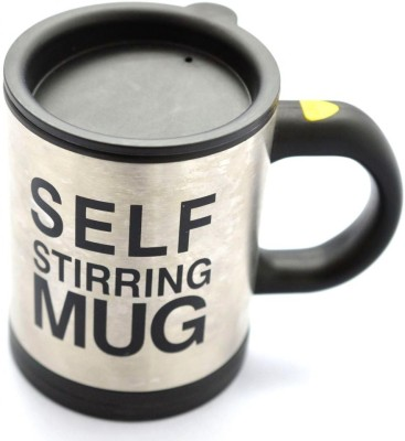 Gizmobaba Self Sterring Stainless Steel Mug at flipkart
