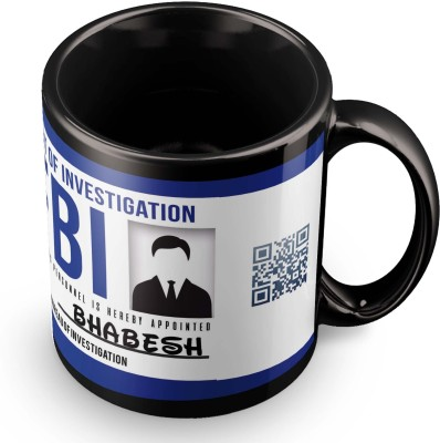 posterchacha Bhabesh FBI ID Tea And Coffee Ceramic Mug(300 ml)