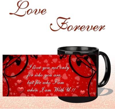 Snapgalaxy I Love You in Black Ceramic Mug