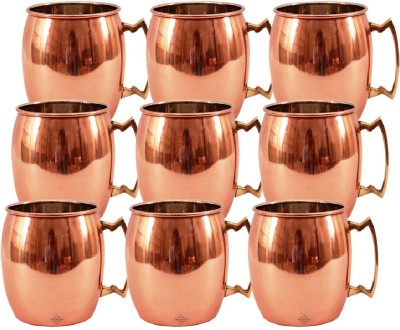 Indian Art Villa Set Of Moscow Mule Round  Cup Restaurant Bar Hotel Ware Copper Mug