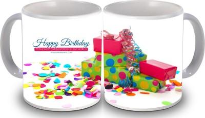 Print Hello Happy Birthday Set of Two Cake 149 Ceramic Mug
