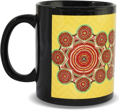 Kolorobia Madhubani with Yellow Aura Ceramic Mug