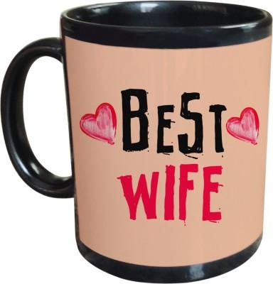Sajawat Homes Best Wife Black Coffee Ceramic Mug