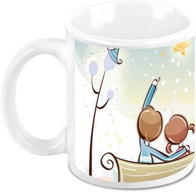 HomeSoGood Love Life Post Valentine Ceramic Mug