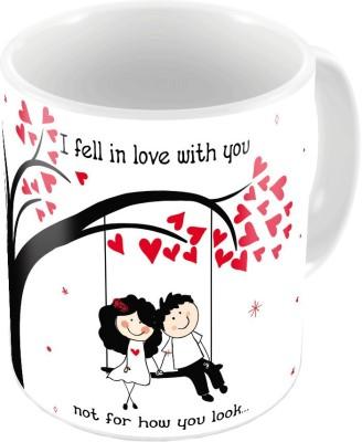 Indiangiftemporium Fancy Design Printed Cute Coffee s Pair 647 Ceramic Mug