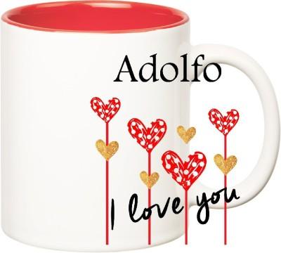 Huppme I Love You Adolfo Inner Red  (350 ml) Ceramic Mug