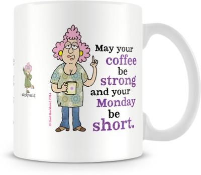 Tashanstreet Aunty Acid May Your Coffee Be Strong Ceramic Mug