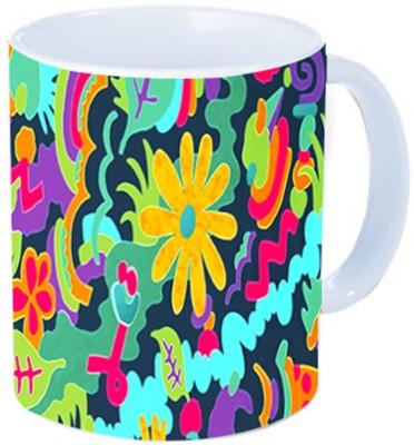Rawkart floral doodle Ceramic Mug