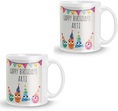 posterchacha Arti Personalised Custom Name Happy Birthday Gift Tea And Coffee  For Gift Use Ceramic Mug