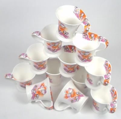Clay Craft CP-WONDER-ORANGE FLOWER Bone China Mug