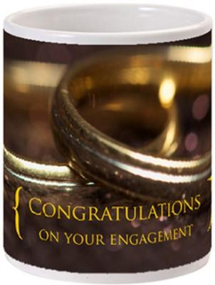 Allthingscustomized Engagement Present  Ceramic Mug