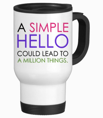 Tiedribbons A Simple Hello Gifts For Friend Travel Stainless Steel Mug