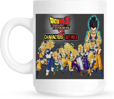 Huppme Dragon Ball Z White  Ceramic Mug