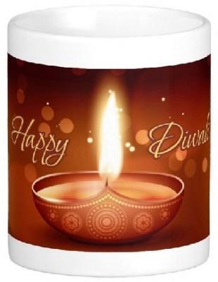 Easyhome Happy Diwali Wishing Ceramic Mug