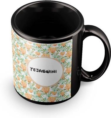 posterchacha Tejaswini Floral Design Name  Ceramic Mug