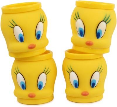 Instabuyz COMBO OF 4 TWT YELLOW Plastic Mug(200 ml, Pack of 4)