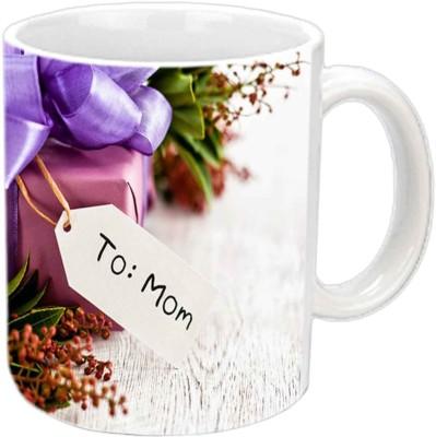 Jiya Creation1 To MOM White Ceramic Mug