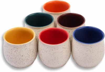 MC SID RAZZ Stone finish, Coloured Terracotta Chai/Tea Kulhad Cups Ceramic Mug