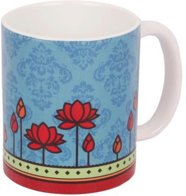 Mad(e) in India Geometric Lotus Ceramic Mug