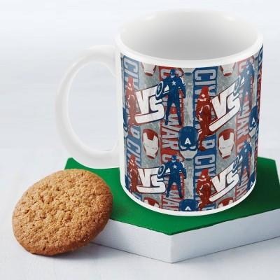 Marvel Civil War-captain vs Iron Officially Licensed (pack of 1) Ceramic Mug