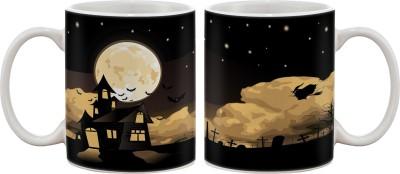 Artifa Haunted House Porcelain, Ceramic Mug