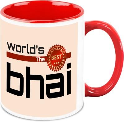 HomeSoGood Gift For Rakhi - Worlds Best Bhai Ceramic Mug