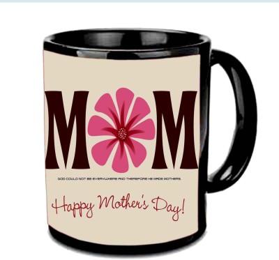 Jiya Creation1 MOM I love you Multicolor Ceramic Mug