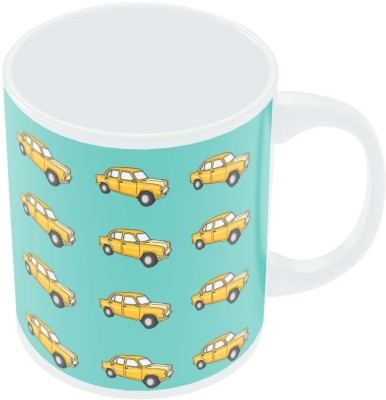 PosterGuy Quirky Ambassador Car Pattern Quirky Illustration Ceramic Mug