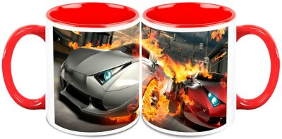 HomeSoGood Automobile Breaking Some Rules Ceramic Mug