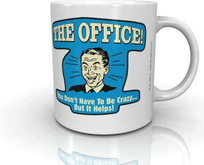Bcreative The Office You Don,t Have To Be Crazy...But It Helps! (Officially Licensed) Ceramic Mug