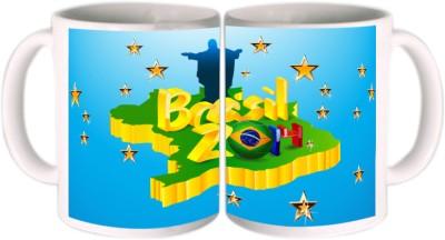 Shopkeeda FIFA 2014 Football With FIFA CUP Ceramic Mug