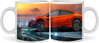 SBBT Red Car SUV Ceramic Mug(350 ml)