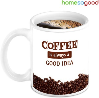 HomeSoGood Beautiful Coffee Nuts With Good Idea Ceramic Mug