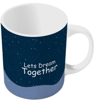 Indiangiftemporium Designer Romantic Printed Blue Coffee  807 Ceramic Mug
